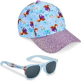 Disney Pack de Gorra Niña y Gafas de Sol Infantiles de Frozen, Gorra Infantil, Gafas de Sol Niña, Regalos para Niñas
