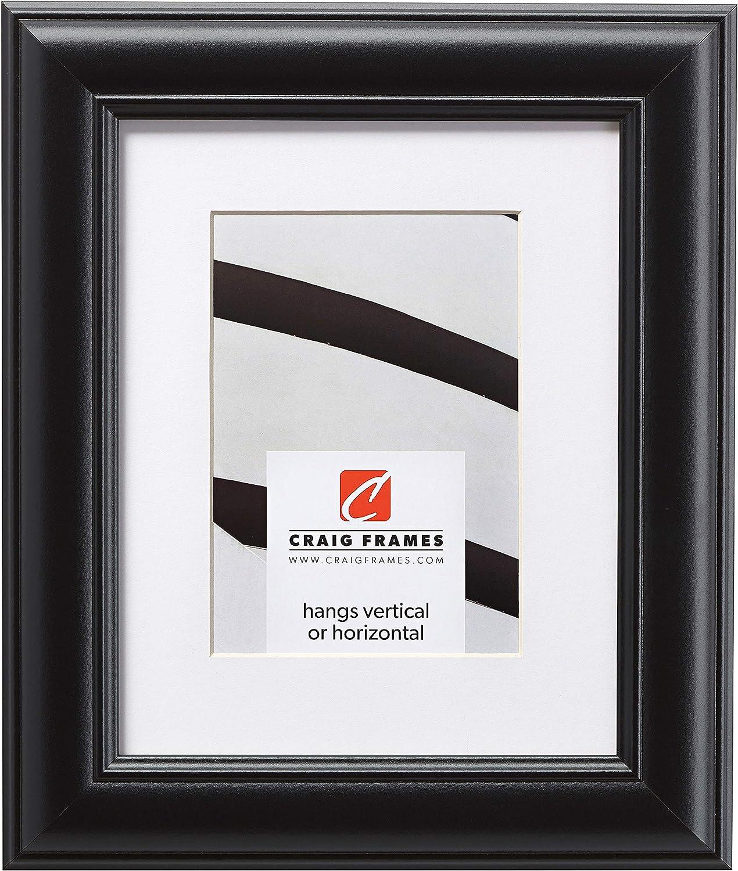 Craig Frames Dakota, 20 x 24 Inch Satin Black Picture Frame Matted to Display a 16 x 20 Inch Photo