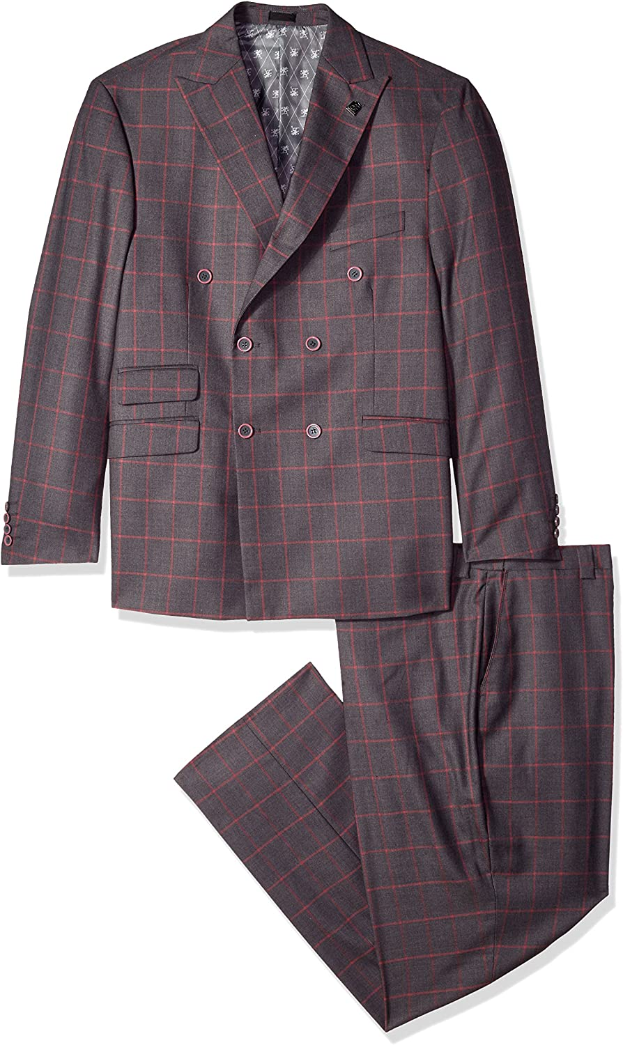 STACY ADAMS Men's Big and Tall Sam Big & Tall Double Breasted Suit