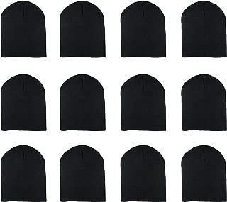 Knit Skull Cap Warm Winter Slouchy Beanies Hat 9 Inch Long