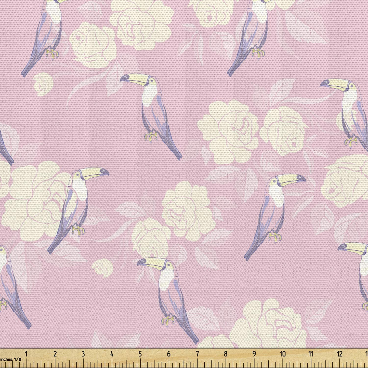 Fixed price for sale Ambesonne Birds Fabric by The security Yard Toucans Drawn of Print Hand