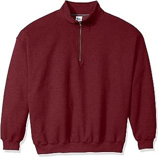 Men's Fleece Quarter-Zip Cadet Collar Sweatshirt