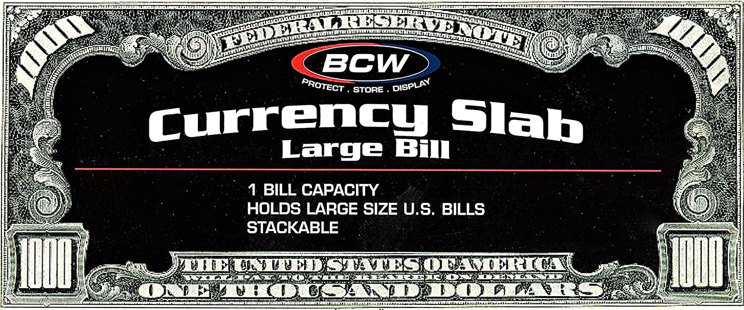 BCW - Deluxe Currency Slab - Large Bill - Dollar   Currency Collecting Supplies by BCW [Toy]