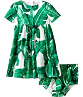 Dolce & Gabbana Kids - Botanical Garden Banana Print Dress (Infant)