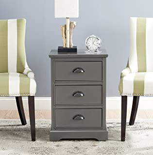 Safavieh American Homes Collection Griffin Grey 3 Drawer Side Table
