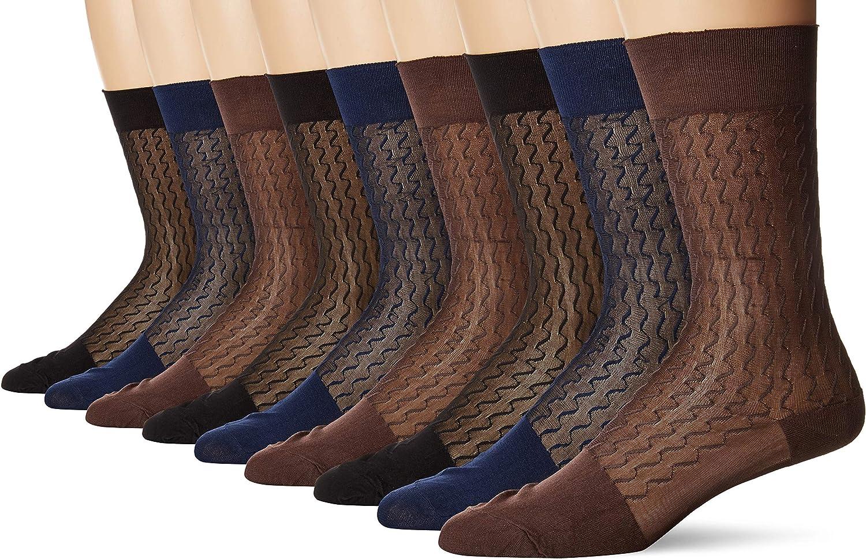 3-Pack Mens Mid Calf Nylon Dress Socks