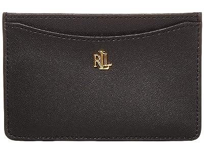 LAUREN Ralph Lauren Slim Card Case (Black) Wallet Handbags