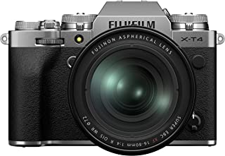 Fujifilm X-T4 Mirrorless Digital Camera, Silver with Fujinon XF16-80 mm F4 R WR Optical Image Stabiliser Lens Kit