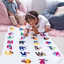 Buy Your Product Dinosaur Alphabet Printed Blanket - Lightweight Soft Sherpa Mother Warmth Blanket for Boys and Girls Lear...