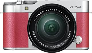 Fujifilm X-A3-24.3 MP Mirrorless Digital Camera with XC 16-50mm F3.5-5.6 OIS II lens Pink
