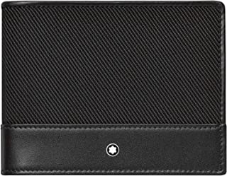 Mont Blanc Nightflight Borsetta Wallet 4 CC con Money Clip Portamonete, Nero