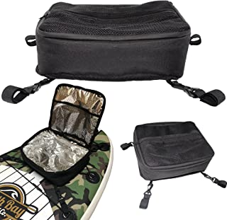 SBBC - ISUP Cooler - || Paddle Board Cooler || - SUP Deck Cooler Bag + 4 Securing Clips + Mesh Storage Top Pocket | Holds 10 Cans + ICE | Fits Most Paddle Boards