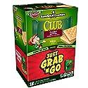 Keebler Club Sandwich Crackers, Peanut Butter, Grab 'N' Go, Single Serve, 0.93 oz Packages(18 Count)