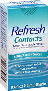 REFRESH Contacts Contact Lens Comfort Moisture Drops 0.40 oz (Pack of 2)