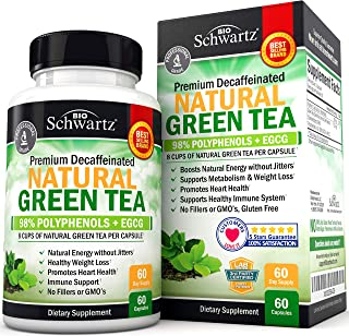 Premium Natural Green Tea Extract Capsules with EGCG for Immune Support & Jitter-Free Energy - Breakthrough Formula Promot...