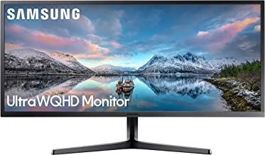 Samsung 34-Inch SJ55W Ultrawide Gaming Monitor (LS34J550WQNXZA) – 75Hz Refresh, WQHD Computer Monitor, 3440 x 1440p Resolution, 4ms Response, FreeSync, Split Screen, HDMI