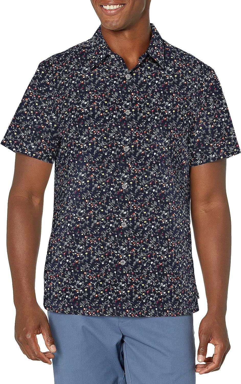 Perry Ellis Men's Floral Print Stretch Button-Down Shirt