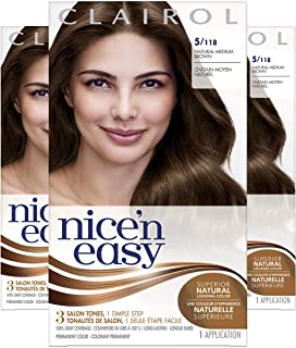 Clairol Nice'n Easy Original Permanent Hair Color, 5 Medium Brown, 3 Count