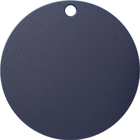 ヨシカワ(Yoshikawa) 栗原はるみ 調理用まな板 ネイビー/ホワイト 24.5cm まな板 (丸) HK11623
