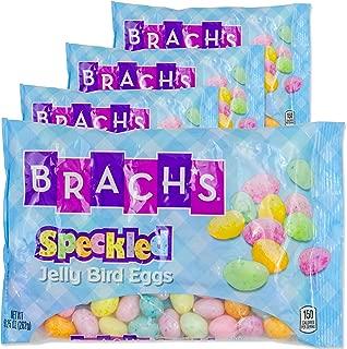 Brachs Easter Jelly Bird Eggs Candy | 4 Bag Speckled Jelly Bird Eggs | Great Easter Basket Stuffer, Hunt, Treats or Spring Gift Set. (Speckled)
