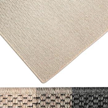 casa pura Moderner Teppich in Premium Sisal Optik   ausgezeichnet mit GUT-Siegel   pflegeleichtes Flachgewebe   viele Größen (beige, 140x200 cm)