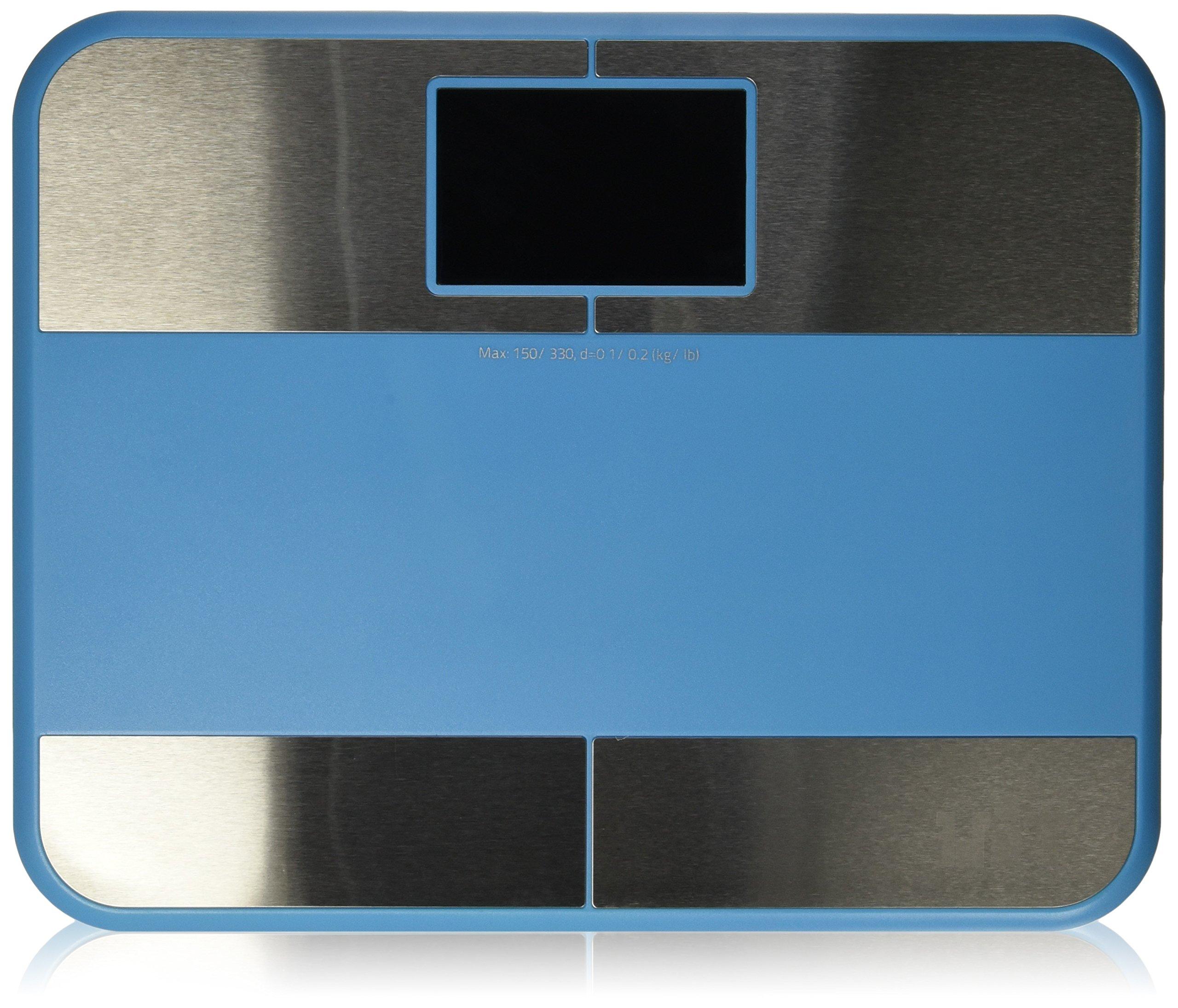 witscale S1°F 蓝牙数码浴室比例身体脂肪 W/大背光显示和 step-on 技术适用于 iphone5s , iphone5°C 手机, ipad mini
