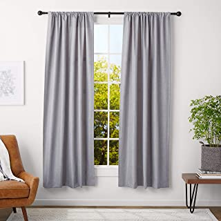 light blue rod pocket curtains