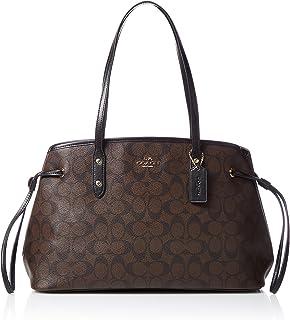 Coach Signature Drawstring Carryall Shoulder Bag F57842 (Brown/black)