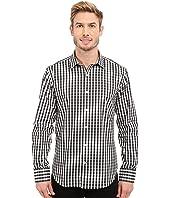 BUGATCHI - Modena Shaped Fit Long Sleeve Woven Shirt