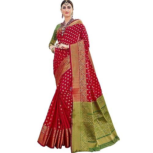 d430631b1b90a EthnicJunction Booti Zari Butta Banarasi Silk Saree With Zari Thread Work  Unstitched Blouse Piece(EJ1178