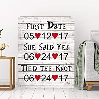 Dozili Rustic Wood Pallet Love Dates Welcome Sign Guest Book Alternative Custom Wood Guest Book