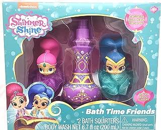 Shimmer & Shine Bath Time Friends Gift Set - 2 Bath Squirters with 6.7oz Refillable Bath Soap Dispenser