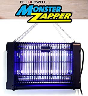 Bell + Howell Monster Zapper 2,800-Volt, 20-watts - Attracts and Kills Houseflies, Mosquitoes, Gnats - Electric Indoor Pes...