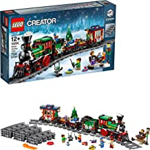 LEGO Creator Expert Winter Holiday Train 10254 Christmas Train Set with Full Circle Train Track, Locomotive, and Spinning ...