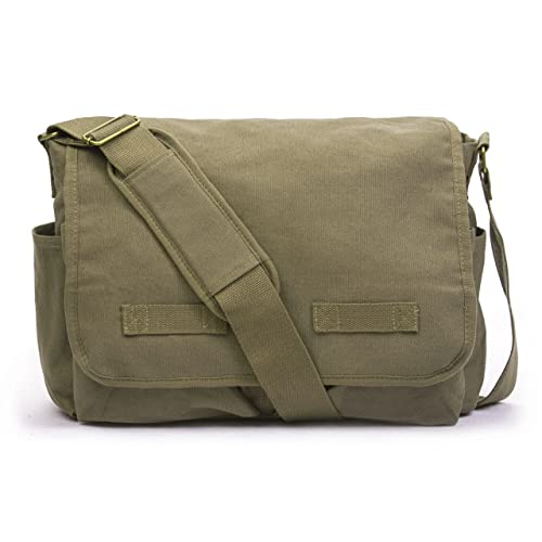 2bcf70a74a Sweetbriar Classic Messenger Bag - Vintage Canvas Shoulder Bag for  All-Purpose Use