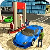 Servicio de la carretera y juego de la gasolinera