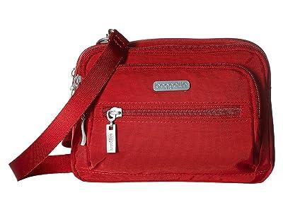 Baggallini Legacy Triple Zip Bagg (Apple) Cross Body Handbags