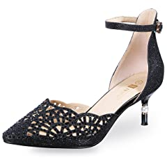 8e93047e771 IDIFU Women s IN2 Candice Rhinestones Sequins Mid Heels Stile .