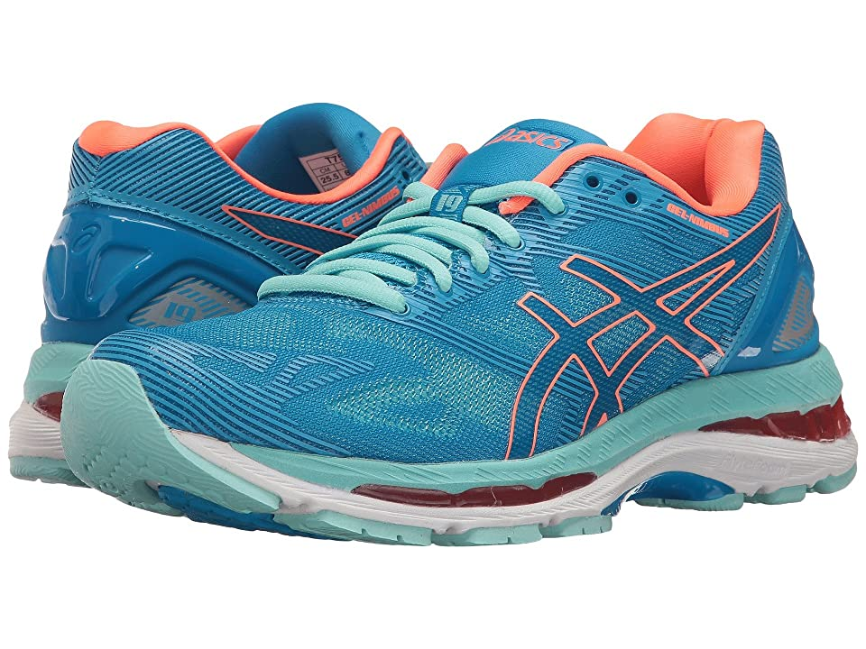 ASICS GEL-Nimbus(r) 19 (Diva Blue/Flash Coral/Aqua Splash) Women