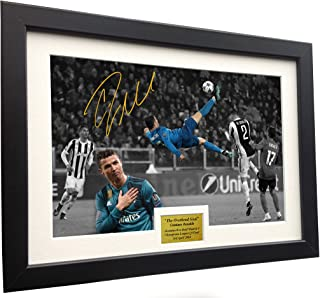 Cristiano Ronaldo 12x8 A4 Signed The Overhead Goal -Juventus 0 vs Real Madrid 3
