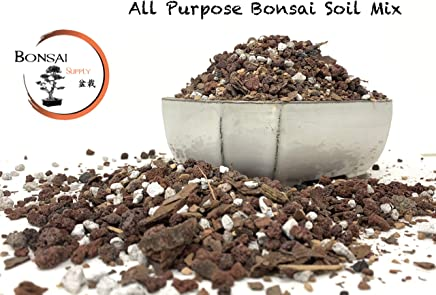 Bonsai Tree Soil By The Bonsai Supply Premium Professional, All Purpose, Sifted and Ready to Use Bonsai Potting Blend in Easy Zip Bag - Pumice, Lava, Calcined Clay and Pine Bark Fines (2.5 Quarts Bag)