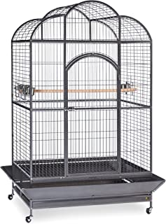 Prevue Hendryx Signature Series Wrought Iron Silverado Macaw Dometop Bird Cage in Silver