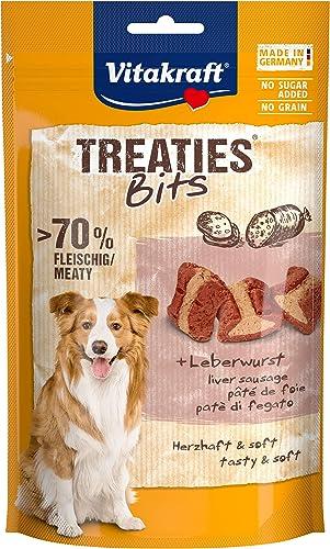Vitakraft Treaties Bits Pâtée de Foie, Friandise Snack à la Viande Qualité Premium pour Chien, 1 Sachet de 120 g