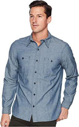 Classic Fit Chambray Utility Sport Shirt