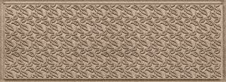 Bungalow Flooring Waterhog Indoor/Outdoor Runner Rug, 22 x 60 inches, Made in USA, Skid Resistant, Easy to Clean, Catches Water and Debris, Dogwood Leaf Collection, Khaki/Camel