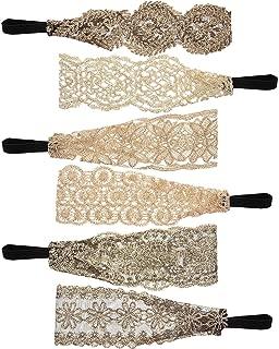 Sumind 12 Pieces Elastic Woman Headband Tie Hairband Stretch Lace Turban Headbands for Lady Women Girls