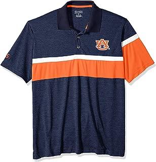 NCAA Auburn Tigers Mens NCAA Men's Short Sleeve Striped Polo Collared Teechampion NCAA Men's Short Sleeve Striped Polo Collared Tee, Sports Navy, Medium