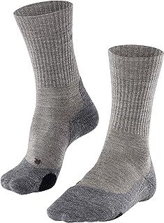 FALKE Trekkingsocken TK2 Wool Schurwolle Herren grau blau viele weitere Farben Dicke verstärkte Wandersocken ohne Muster mit mittelstarker Polsterung lang und warm zum Wandern 1 Paar