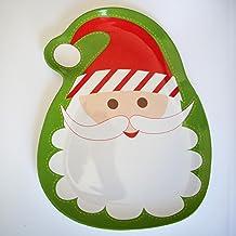 Bandejas Decorativas Platon Aperitivos Fiestas Navideñas con Imágenes de Navidad Christmas Santa Claus - Papa Noel Melamina