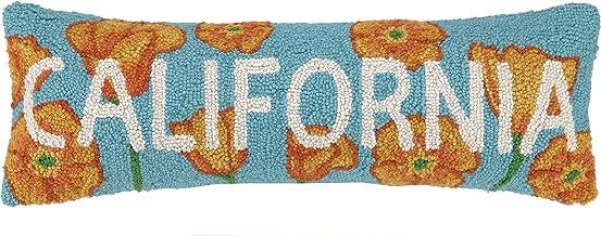 Peking Handicraft California Poppy Hook Pillow, 8 by 24